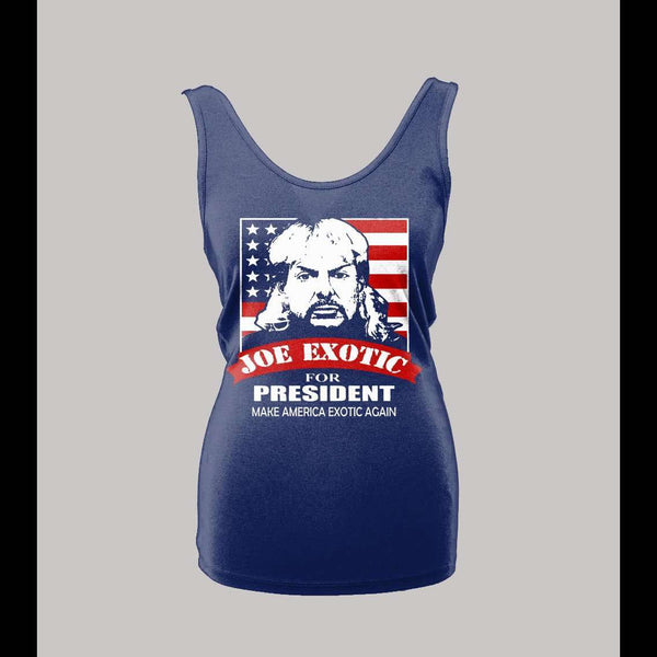 LADIES JOE EXOTIC THE TIGER KING FOR PRESIDENT SHIRT - Old Skool Shirts