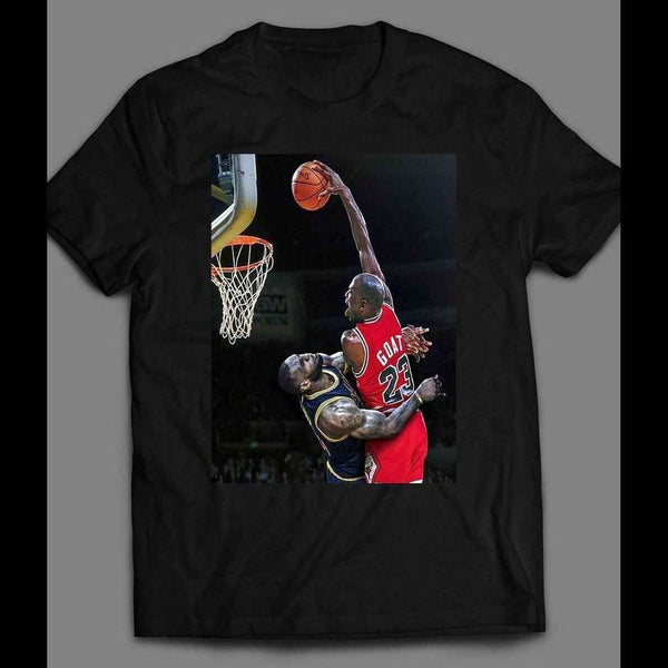 AIR MJ DUNK OVER LBJ HIGH QUALITY CUSTOM SHIRT