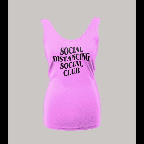 LADIES SOCIAL DISTANCING SOCIAL CLUB HIGH QUALITY PRINT SHIRT