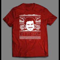 PABLO ESCOBAR LET IT SNOW CHRISTMAS FULL FRONT PRINT SHIRT - Old Skool Shirts