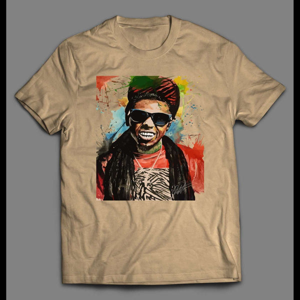 RAPPER LIL WAYNE SPLASH ART HIGH QUALITY PRINT SHIRT