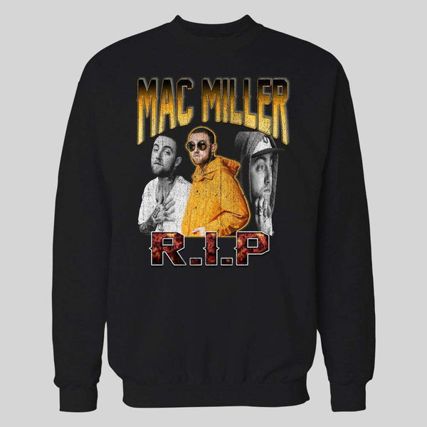 MAC MILLER RIP BOOTLEG RAPSTYLE ART HIGH QUALITY HOODIE / SWEATER