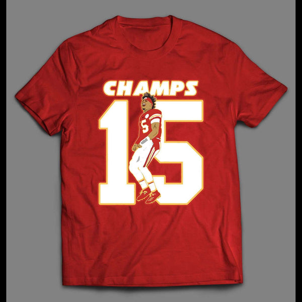 KANSAS CITY CHAMPS #15 HIGH QUALITY CUSTOM ART SHIRT
