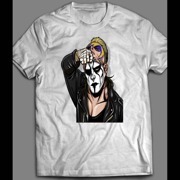 "PRO WRESTLER STING ""MASK OFF"" CUSTOM WRESTLING SHIRT - Old Skool Shirts"