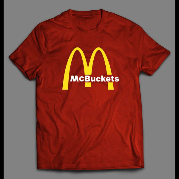 FAST FOOD PARODY MCBUCKETS BASKETBALL THEMED T-SHIRT - Old Skool Shirts