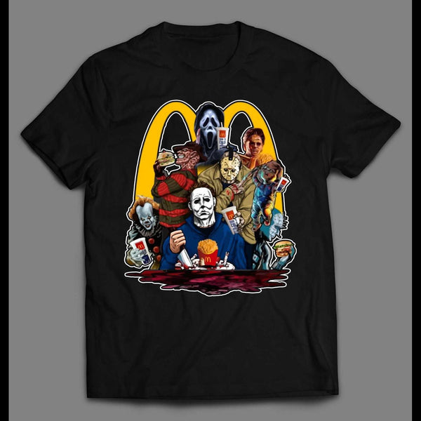 HORROR MOVIE KILLERS LUNCH TIME HALLOWEEN SHIRT