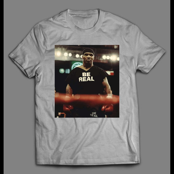 VINTAGE MIKE TYSON CHAMPION BE REAL WORK OUT SHIRT