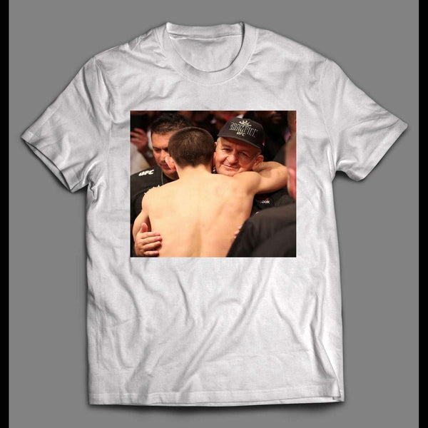 MMA FIGHTER WITH TRAINER HIGH QUALITY SHIRT