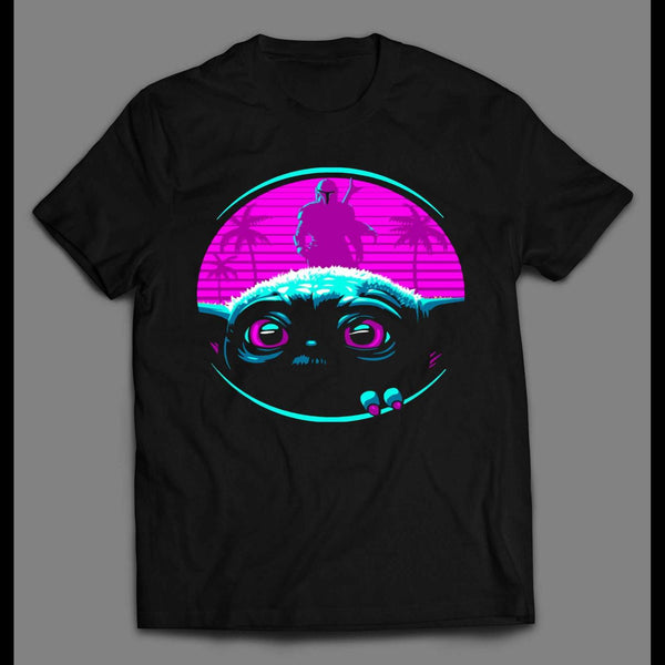 MANDO AND THE STAR BABY ALIEN RETRO STYLE SHIRT