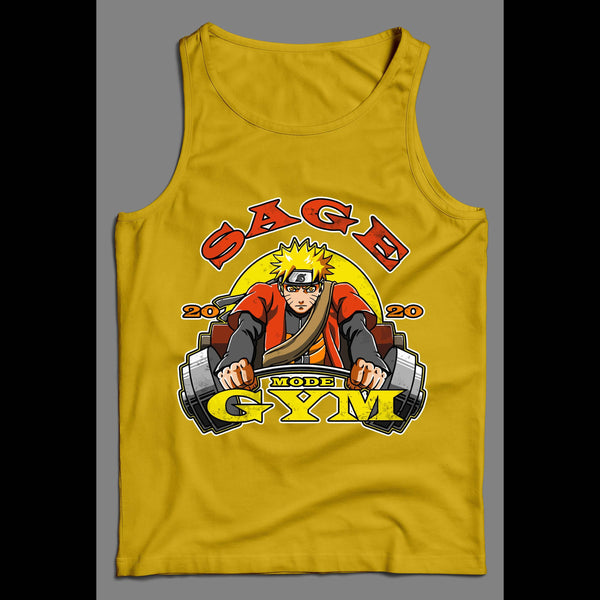 SAGE MODE GYM NARUTO SHIPPUDEN ANIME HIGH QUALITY MEN'S TANK TOP