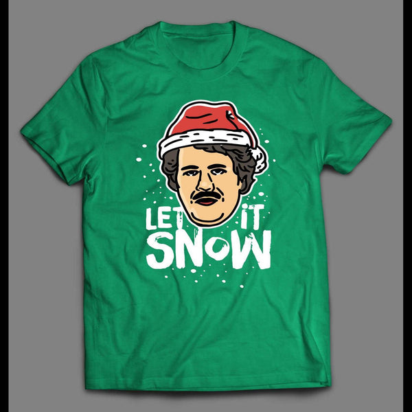 SANTA PABLO ESCOBAR LET IT SNOW CHRISTMAS SHIRT
