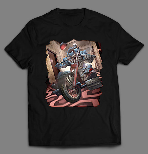 3 WHEELIN' PSYCHO CLOWN SHIRT
