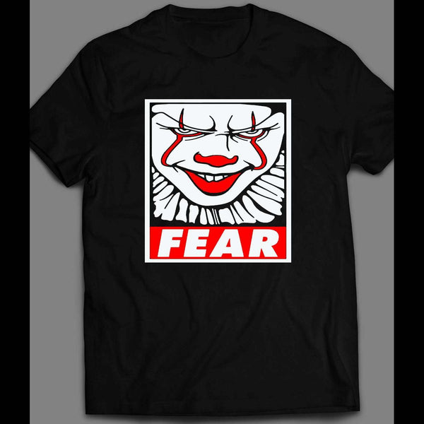 "OBEY PARODY PENNYWISE ""FEAR"" HALLOWEEN SHIRT - Old Skool Shirts"