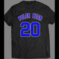 NEW YORK BASEBALL STAR #20 PETE ALONSO POLAR BEAR JERSEY NUMBER BASEBALL SHIRT - Old Skool Shirts