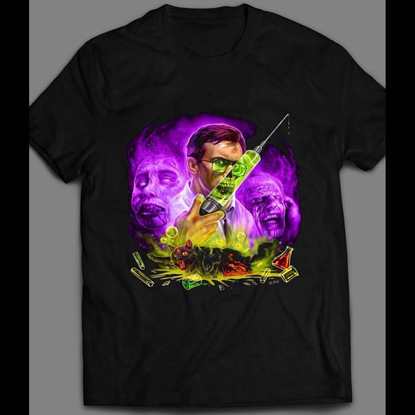 HALLOWEEN THE REANIMATOR CUSTOM ART FRONT PRINT SHIRT - Old Skool Shirts