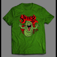 GHOSTBUSTERS SLIMER CUSTOM ART SHIRT - Old Skool Shirts