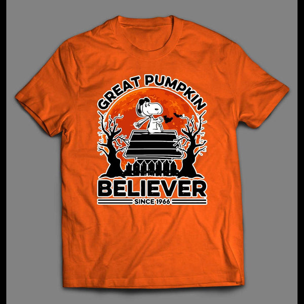 SNOOPY THE GREAT PUMPKIN BELIEVER MENS HALLOWEEN SHIRT