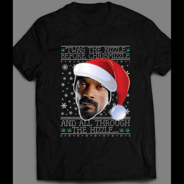 RAPPER SNOOP DOGG CHRISTMAS FULL FRONT PRINT SHIRT - Old Skool Shirts