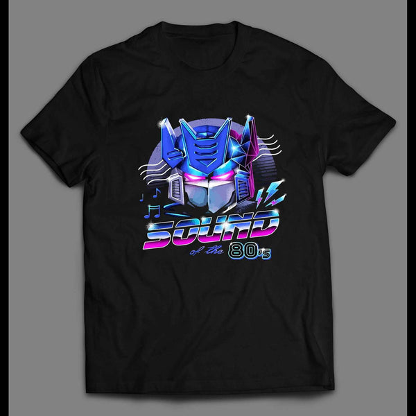 "TRANSFORMER SOUND WAVE ""SOUND OF THE 80's"" RETRO STYLE SHIRT"