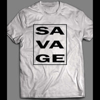 SAVAGE VERTICAL DESIGN CUSTOM ART SHIRT - Old Skool Shirts