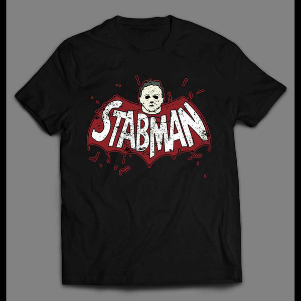 "HALLOWEEN BATMAN PARODY ""STABMAN"" MICHEAL MYERS SHIRT"