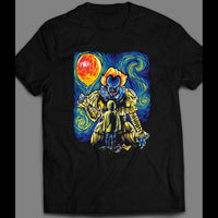 "PENNYWISE ""STARRY DERRY"" PAINTING PARODY HORROR MOVIE HALLOWEEN SHIRT - Old Skool Shirts"