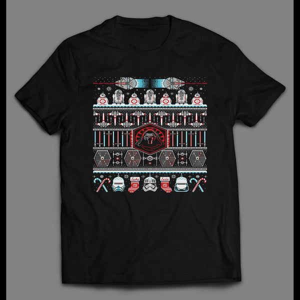 THE SITH LORD CHRISTMAS PATTERN MOVIE INSPIRED SHIRT