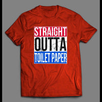 STRAIGHT OUTTA TOILET PAPER NWA PARODY SHIRT - Old Skool Shirts