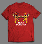 RETRO GAME STYLE SUPER MEGA POWERS WRESTLING PARODY SHIRT