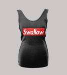 ADULT HUMOR SWALLOW LADIES TANK TOP