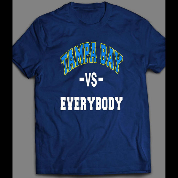 TAMPA BAY VS EVERYBODY PLAYOFF BASEBALL SHIRT - Old Skool Shirts