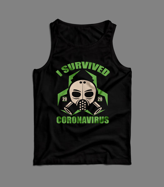 I SURVIVED PANDEMIC 2020 SOCIAL DISTANCING MENS TANK TOP