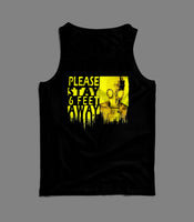 SOCIAL DISTANCING CAUTION PLEASE STAY AWAY GAS MASK TANK TOP