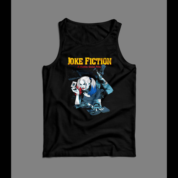 JOKE FICTION HARLEY QUINN PULP FICTION PARODY ART TANK TOP