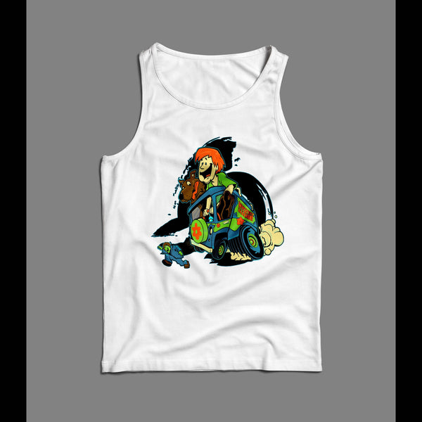 SHAGGY AND SCOOBY MYSTERY MACHINE 1980s CARTOON OLDSKOOL TANK TOP
