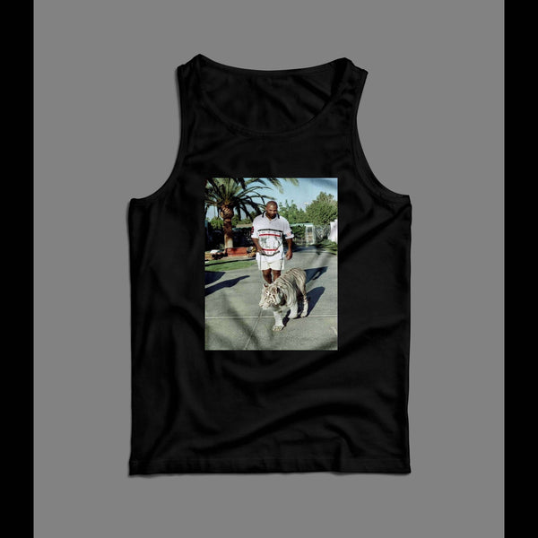 CHAMPION BOXER WALKING HIS TIGER TANK TOP