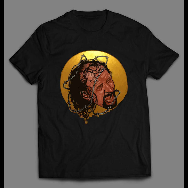 WRESTLER TERRY FUNK BARBED WIRE MATCH ART HIGH QUALITY SHIRT
