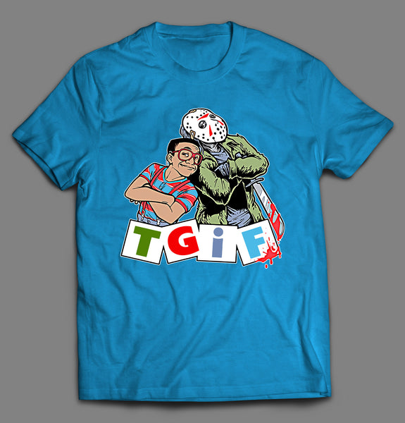 T.G.I.F STEVE AND JASON PARODY HALLOWEEN SHIRT