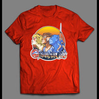 THUNDERCAT'S CARTOON LOGO WITH CHARACTERS CUSTOM ART SHIRT - Old Skool Shirts