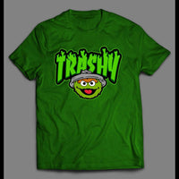 "THE GROUCH ""TRASHY"" CARTOON ART SHIRT - Old Skool Shirts"
