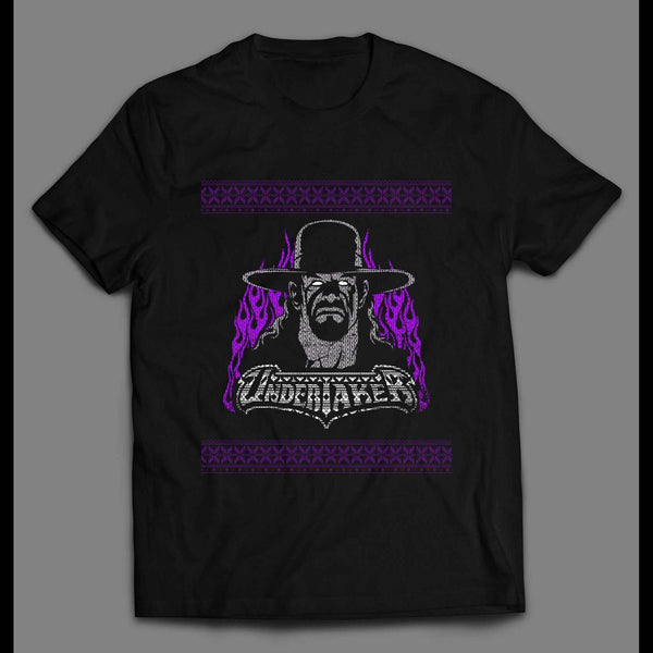 UNDERTAKER CHRISTMAS STYLE HIGH QUALITY WRESTLING SHIRT