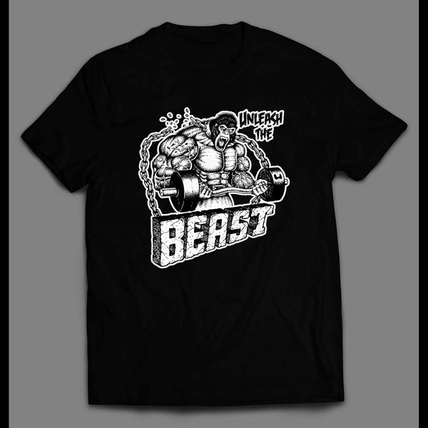 UNLEASH THE BEAST GYM WORK OUT SHIRT - Old Skool Shirts