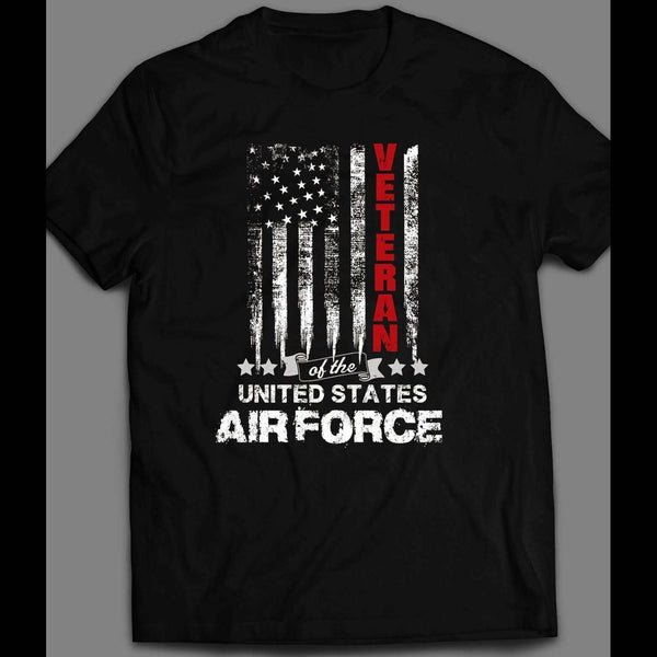 MILITARY U.S. AIR FORCE VETERAN AMERICAN FLAG 4TH OF JULY T-SHIRT