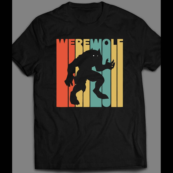 HALLOWEEN WEREWOLF RETRO RARE ART DESIGN HALLOWEEN T-SHIRT