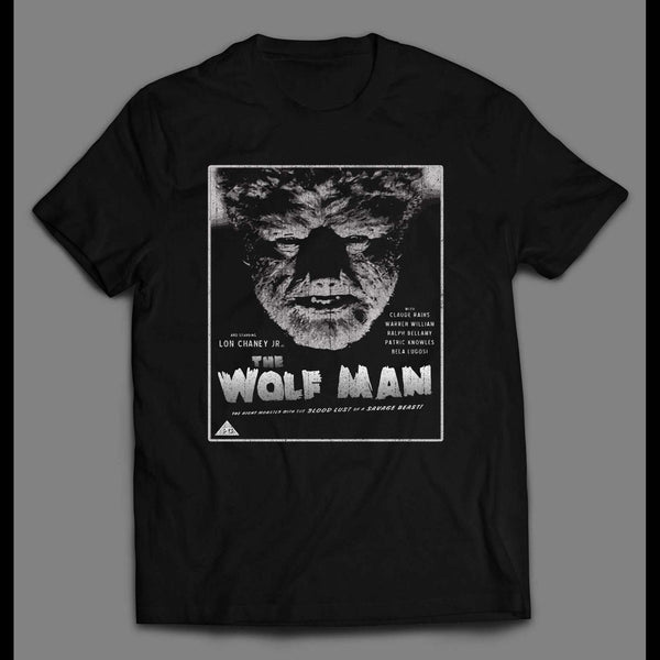 VINTAGE THE WOLF MAN MOVIE POSTER HALLOWEEN DISTRESSED SHIRT