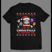 YOUTH SIZE CHRISTMAS IS AMONG US MOBILE GAME INSPIRED HOLIDAY SHIRT