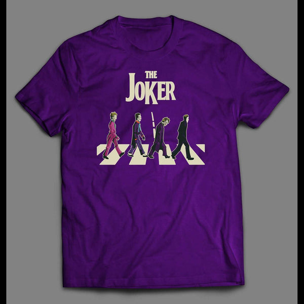 THE JOKERS ABBEY ROAD PARODY T-SHIRT - Old Skool Shirts