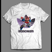 YOUTH SIZE TF ROBOTS DECEPTICON STARSCREAM ATHLETIC WEAR INSPIRED SHIRT