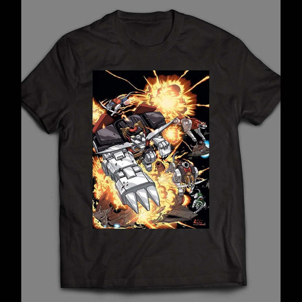 1980'S CARTOON VOLTRON BLACK LION ART SHIRT - Old Skool Shirts