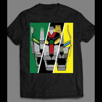1980'S CARTOON VOLTRON GREEN, BLACK AND YELLOW LIONS T-SHIRT - Old Skool Shirts